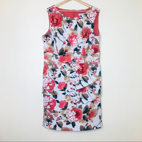 dressbarn Dresses & Skirts - Dressbarn Tiered Floral Print Sleeveless Dress